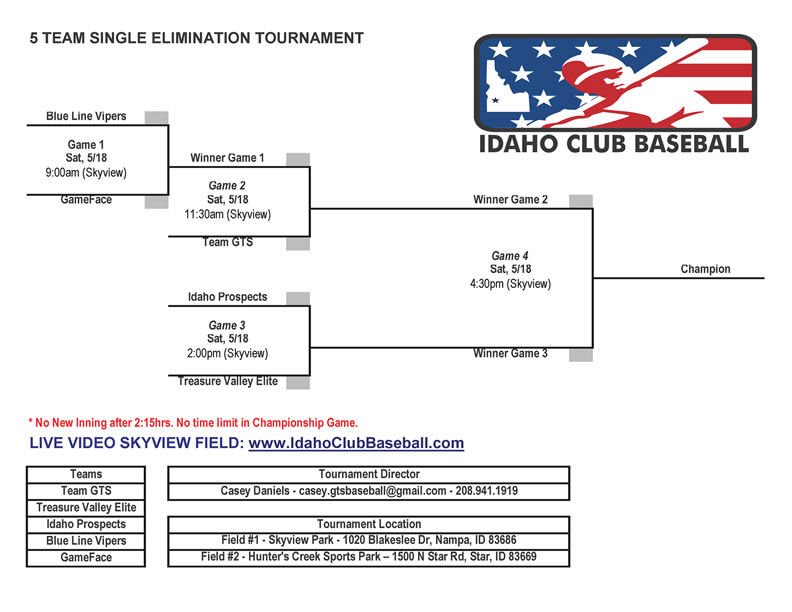 League Tournament – Idaho Club Baseball